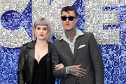 "Kelly Osbourne and Jimmy Q attend the ""Rocketman"" UK premiere at Odeon Luxe Leicester Square on May 20, 2019 in London, England."