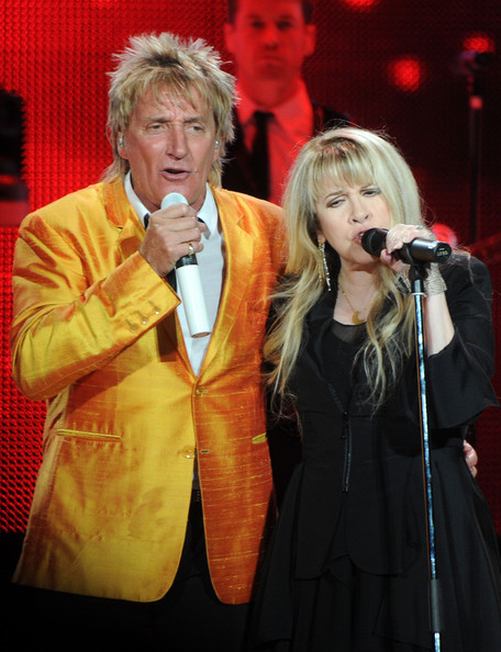 Rod Stewart Recording Artists Rod Stewart and Stevie Nicks perform at ...