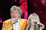 Recording Artists Rod Stewart and Stevie Nicks perform at Philips Arena on March 24, 2011 in Atlanta, Georgia.