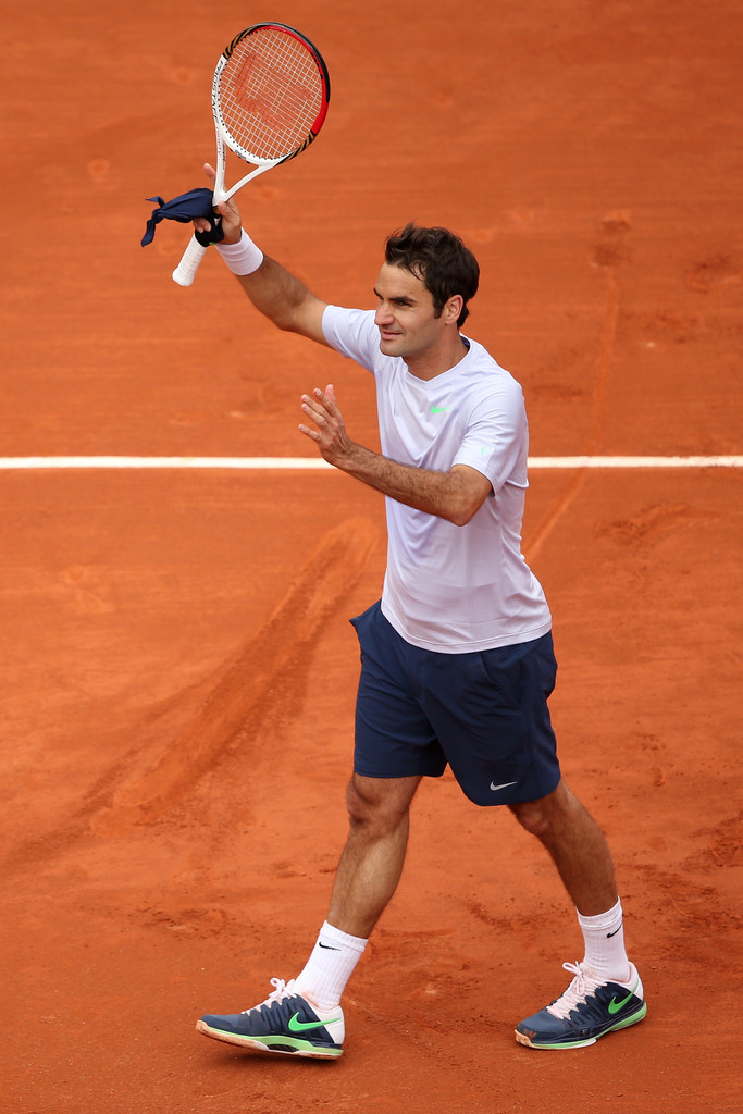Roger Federer - French Open: Day 1