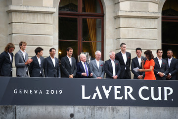 Roger Federer Milos Raonic Laver Cup 2019 - Preview Day 3