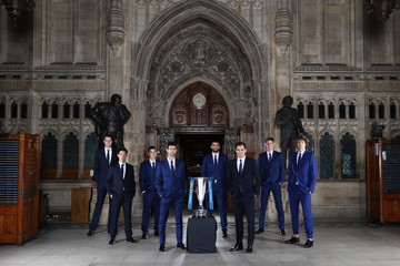 Roger Federer Novak Djokovic World's Best Tennis Players Launch Nitto ATP Finals At Houses Of Parliament