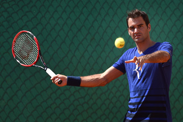 Roger Federer ATP Masters Series: Monte Carlo Rolex Masters - Day One