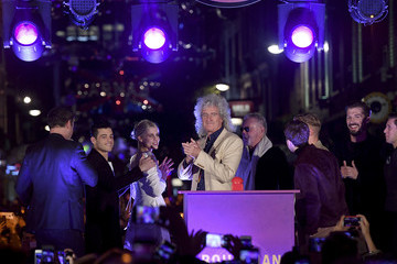 Roger Taylor Carnaby Street Bohemian Rhapsody Light Installation Switch On