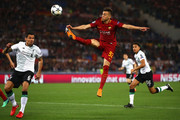 Stephan El Shaarawy of AS Roma attepmts to controll the ball during the UEFA Champions League Semi Final Second Leg match between A.S. Roma and Liverpool at Stadio Olimpico on May 2, 2018 in Rome, Italy.