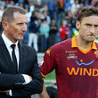 Aurelio Andreazzoli and Francesco Totti
