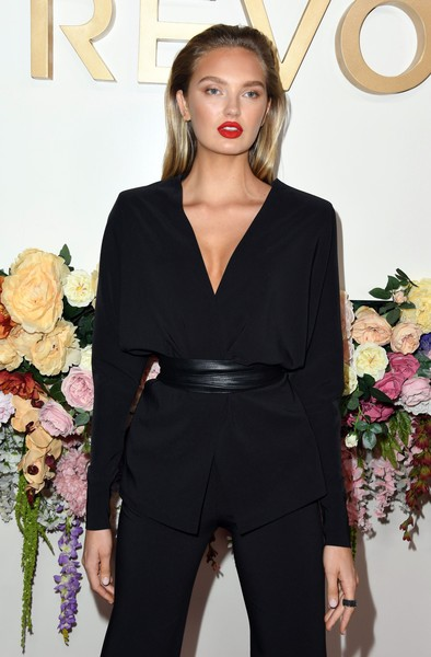 3rd Annual #REVOLVEawards - Arrivals [clothing,shoulder,dress,fashion,beauty,hairstyle,neck,formal wear,pantsuit,suit,revolveawards - arrivals,revolveawards,hollywood,california,romee strijd,goya studios]