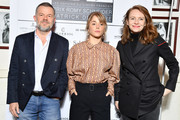 """Eric Naulleau, Alice Isaaz and Sophie Brafman attend the 37th """"Romy Schneider And Patrick Dewaere Awards""""  Nominee Luncheon At Cinema Le Mac Mahon on March 21, 2019 in Paris, France."""