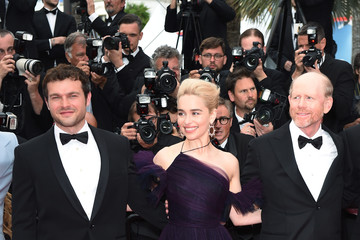 Ron Howard Emilia Clarke European Premiere of 'Solo: A Star Wars Story' At the Palais Des Festivals During The 71st International Cannes Film Festival