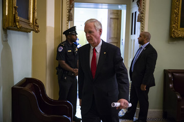Ron Johnson Senate Republicans And Democrats Deliver Remarks After Weekly Policy Luncheons