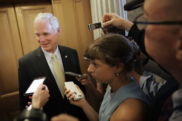Ron Johnson Senators Debate Health Care Bill On Capitol Hill
