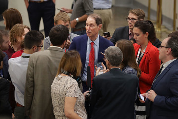 Ron Wyden Senators Return To Capitol Hill After 'Skinny Repeal' Of Obamacare Fails