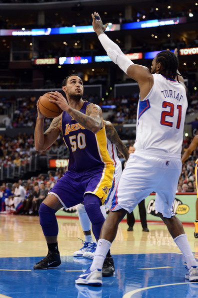 511a03837 Ronny Turiaf and Robert Sacre Photos Photos - Los Angeles Lakers v ...