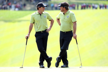 Rory McIlroy Graeme McDowell Ryder Cup - Day One Four-Balls