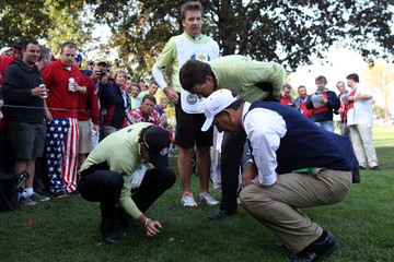 Rory McIlroy Graeme McDowell Ryder Cup - Day One Foursomes