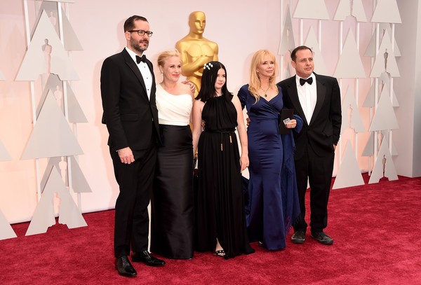 Arrivals at the 87th Annual Academy Awards — Part 3 [red carpet,carpet,event,suit,flooring,fashion,formal wear,tuxedo,premiere,arrivals,patricia arquette,rosanna arquette,richmond arquette,harlow olivia calliope,eric white,l-r,hollywood highland center,california,87th annual academy awards]