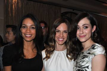 "Rosario Dawson Emmy Rossum Montblanc And UNICEF Celebrate The Launch Of Their New ""Signature For Good 2013"" Initiative At A Pre-Oscar Charity Brunch With Special Guest Hilary Swank"