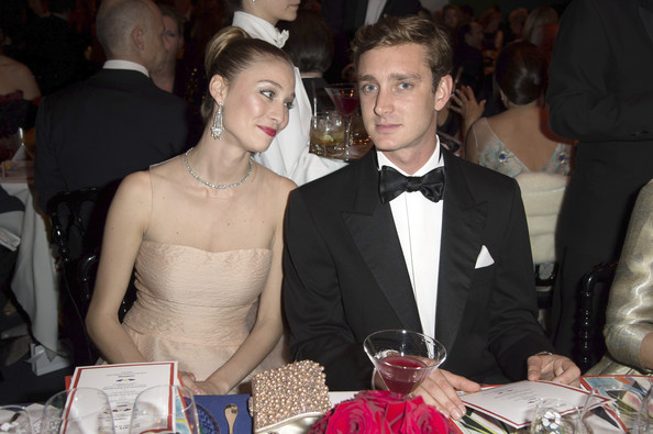 (VOICI, CLOSER, FRANCE DIMANCHE, ICI PARIS, ENTREVUE & PUBLIC OUT FOR FRANCE) (TABLOID OUT) Beatrice Borromeo and Pierre Casiraghi attend the Rose Ball 2014 in aid of the Princess Grace Foundation at Sporting Monte-Carlo on March 29, 2014 in Monte-Carlo, Monaco.