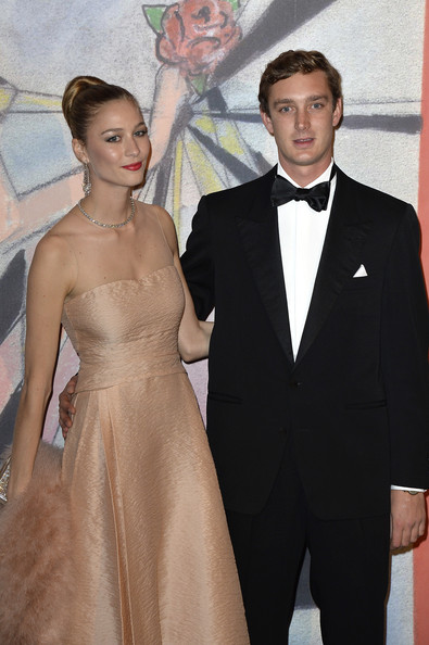 Beatrice Borromeo and Pierre Casiraghi attend the Rose Ball 2014 in aid of the Princess Grace Foundation at Sporting Monte-Carlo on March 29, 2014 in Monte-Carlo, Monaco.