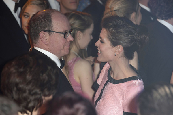 Charlotte Casiraghi and Prince Albert II of Monaco attend the Rose Ball 2015 in aid of the Princess Grace Foundation at Sporting Monte-Carlo on March 28, 2015 in Monte-Carlo, Monaco.