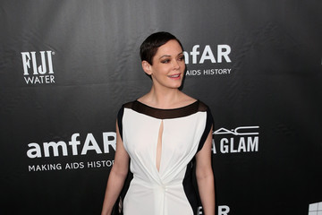 Rose McGowan Arrivals at amfAR's Inspiration LA Gala — Part 2