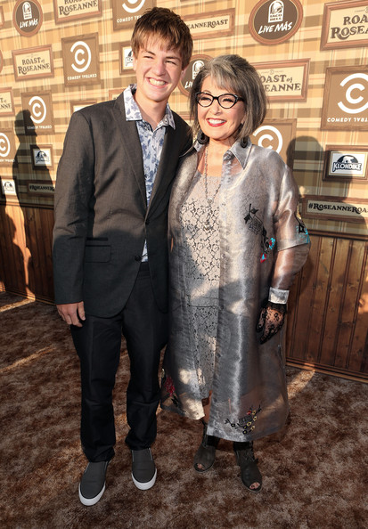 Photo of Roseanne Barr & her Son   Buck Thomas