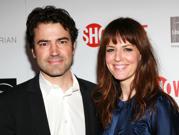 Ron Livingston with beautiful, cute, intelligent, Wife Rosemarie DeWitt