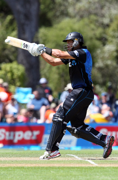 Ross Taylor Of New Zealand Bats During The One Day