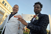 George Carrancho and Sean Franklin at the DC Capital Pride Parade where they were married as part of Marriott's #LoveTravels Campaign on June 13, 2015 in Washington, DC.