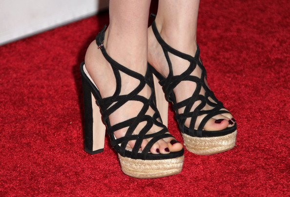 "Roxane Mesquida Actress Roxane Mesquida (shoe detail) from the film ""Rubber"" arrives at AFI FEST 2010 presented by Audi at Grauman's Chinese Theatre on November 5, 2010 in Hollywood, California."