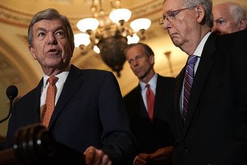 Roy Blunt Senate Lawmakers Speak To Reporters After Weekly Party Luncheons