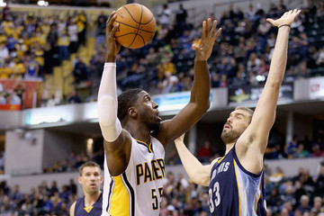 Roy Hibbert Memphis Grizzlies v Indiana Pacers