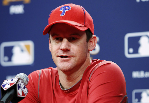 Roy Oswalt Roy Oswalt #44 of the Philadelphia Phillies speaks to the media at Citizens Bank Park on October 22, 2010 in Philadelphia, Pennsylvania.