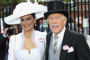 Bruce Forsyth and Wilnelia Forsyth arrive on day three of Royal Ascot at Ascot Racecourse on June 14, 2011 in Ascot, United Kingdom.