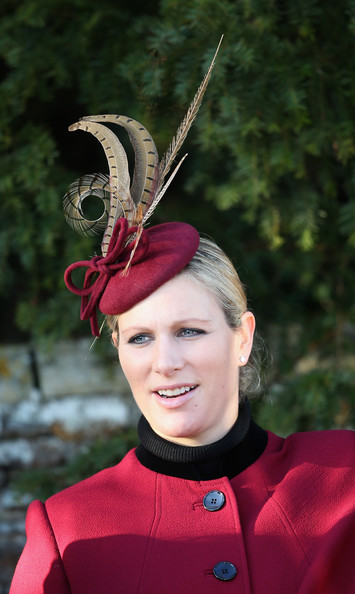 Zara Phillips leaves the Christmas Day service at Sandringham on December 25, 2013 in King's Lynn, England.