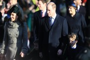 Prince William, Duke of Cambridge, Catherine, Duchess of Cambridge, Princess Charlotte and Prince George attend the Christmas Day Church service at Church of St Mary Magdalene on the Sandringham estate on December 25, 2019 in King's Lynn, United Kingdom.
