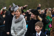 Sophie, Countess of Wessex attends a Christmas Day church service at Sandringham on December 25, 2015 in King's Lynn, England.