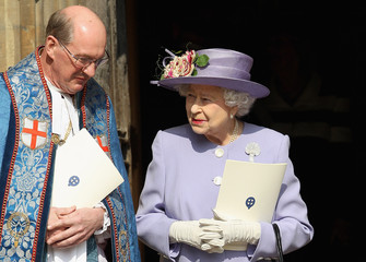 David Conner The Royal Family Attend A Thanksgiving Service For The Queen Mother and Princess Margaret At Windsor
