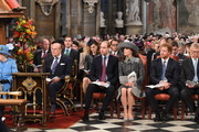 Queen Elizabeth II, Prince Philip, Duke of Edinburgh, Prince William, Duke of Cambridge, Catherine, Duchess of Cambridge, Prince Harry and Prince Andrew, Duke of York attend the annual Commonwealth Day service on Commonwealth Day on March 14, 2016 in Westminster Abbey, London. The service is the largest annual inter-faith gathering in the UK.