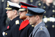(L-R) Prince Andrew, Duke of York, Prince Harry and Prince William, Duke of Cambridge during the annual Remembrance Sunday memorial on November 12, 2017 in London, England.  The Prince of Wales, senior politicians, including the British Prime Minister and representatives from the armed forces pay tribute to those who have suffered or died at war.