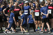Crown Prince Mary of Denmark (C) participates with her children in the running event Royal Run on the occasion of the 50th birthday of Crown Prince Frederik on May 21, 2018 in Copenhagen, Denmark. The Royal Run takes place in the cities Aalborg, Aarhus, Esbjerg, Odense and Copenhagen and more than 70.000 people are expected to participate during the day long sports event. The Crown Prince himself will run in all five cities.The last city of the day is Copenhagen, where he will run together with some 40.000 people.