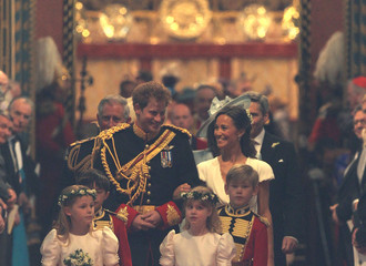 Prince Harry of Wales Royal Wedding - Carriage Procession To Buckingham Palace And Departures