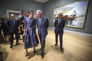 Prince Charles, Prince of Wales and Queen Letizia of Spain attend the opening of 'Sorolla: Spanish Master of Light' at the National Gallery on March 13, 2019 in London, England.