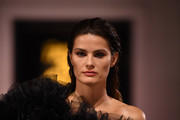 Isabeli Fontana walks the runway during the Fashion For Relief catwalk show London 2019 at The British Museum on September 14, 2019 in London, England.