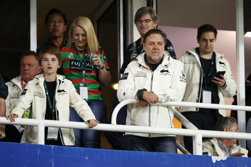Russell Crowe NRL Preliminary Final - Roosters v Rabbitohs