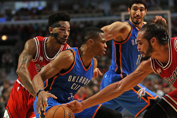 Russell Westbrook Oklahoma City Thunder v Chicago Bulls