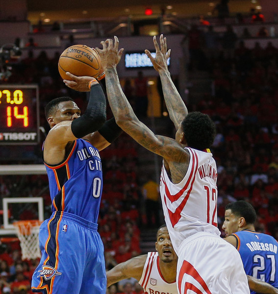 Houston Rockets Vs Okc: Russell Westbrook Photos Photos