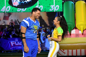 Russell Wilson Nickelodeon's Double Dare Takes The Gridiron At Super Bowl LIII