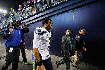Russell Wilson Seattle Seahawks v New England Patriots