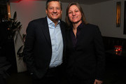 """Chief Content Officer Ted Sarandos, Netflix, and VP Original Series, Cindy Holland, Netflix, attend """"Russian Doll"""" Premiere at The Metrograph on January 23, 2019 in New York City."""